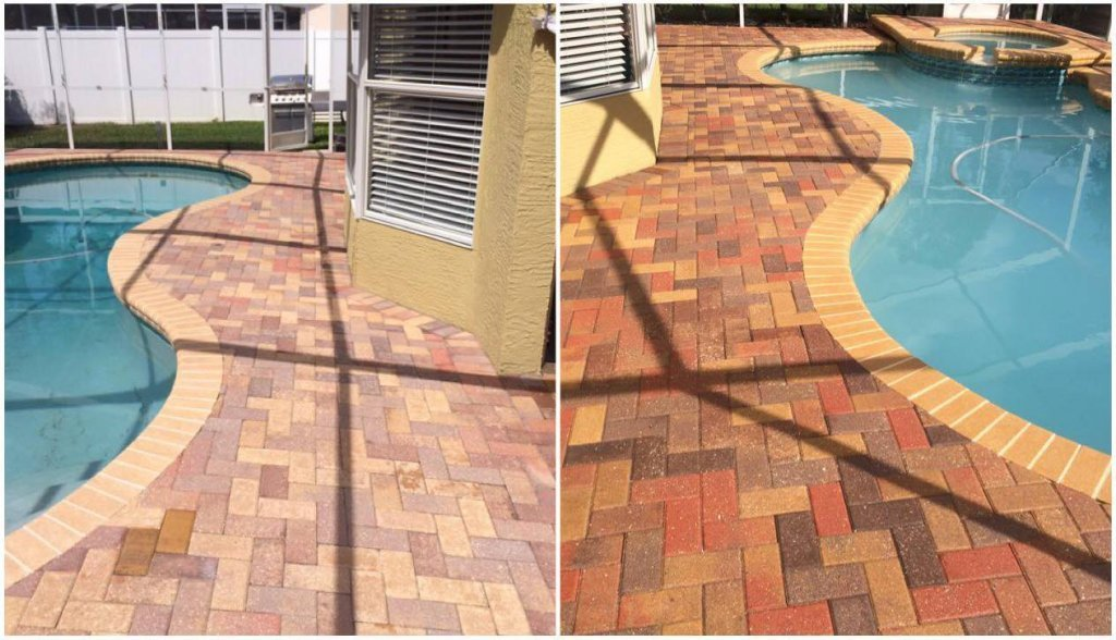 before after 1024x588 Sealing Pavers & Paver Solutions in South Florida